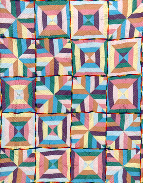 """""""Candy Crystal"""" quilt by Todd DuBay 1985"""