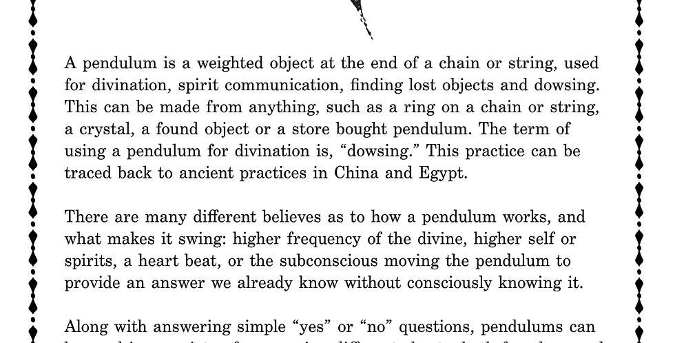 Pendulum Info Page