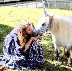 Mitzi goes full unicorn for teenaged fan...