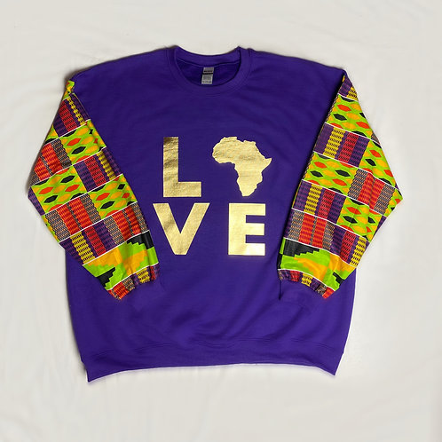 (Purple/LimeGreen) Love Africa