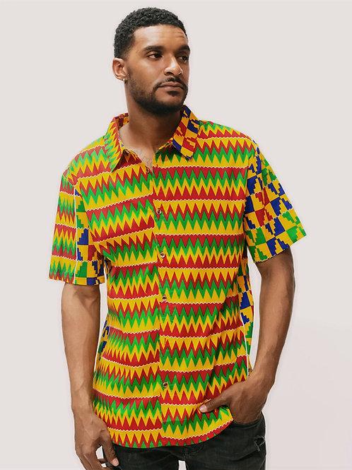 Accra African Print Shirt