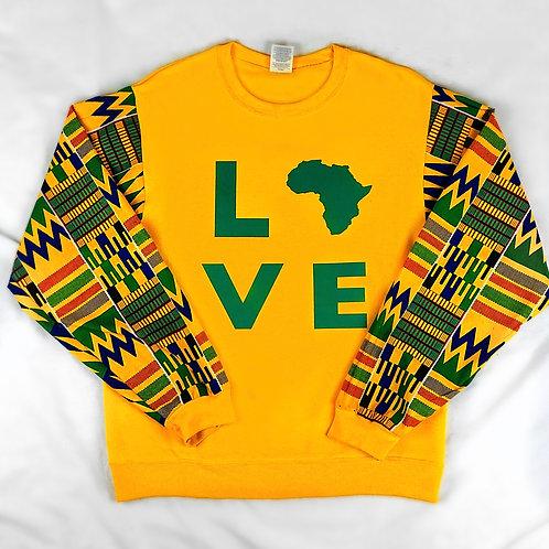 (Mustard Yellow) Love Africa Sweater