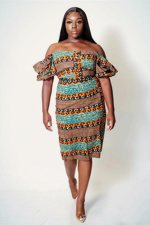 Naimah African Print Dress