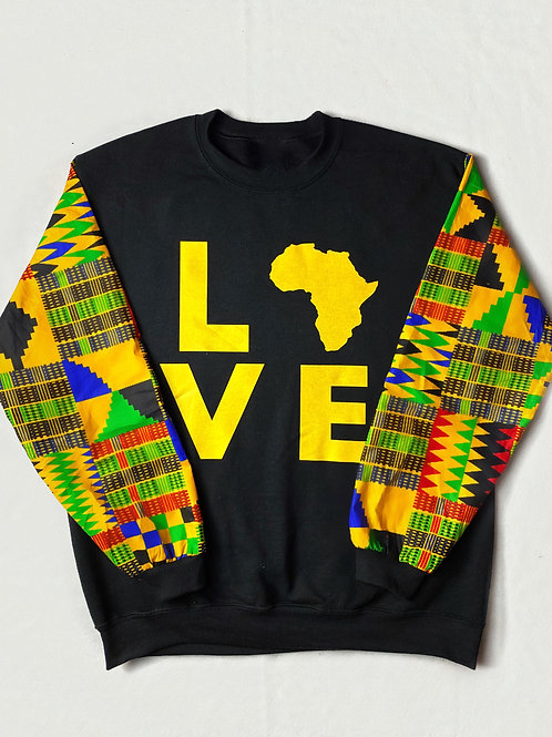 (Black/Yellow) Love Africa Sweater