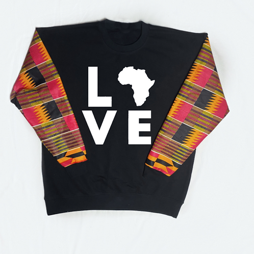 (Fuchsia Pink/Black) Love Africa
