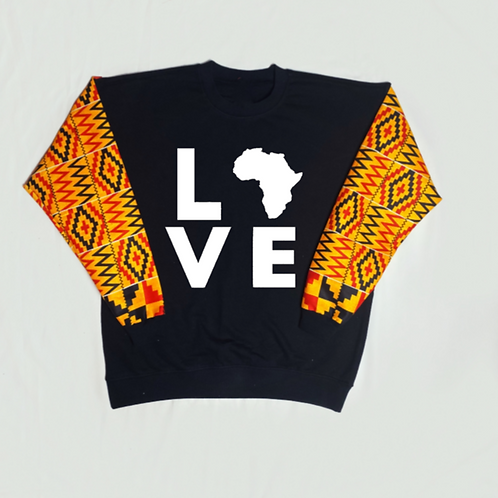 (Yellow Mustard/Black/White) Love Africa
