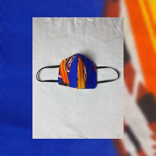 Face Mask (Blue Ankara Fabric)