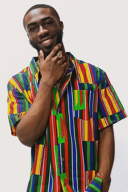 Kenya African Print Shirt