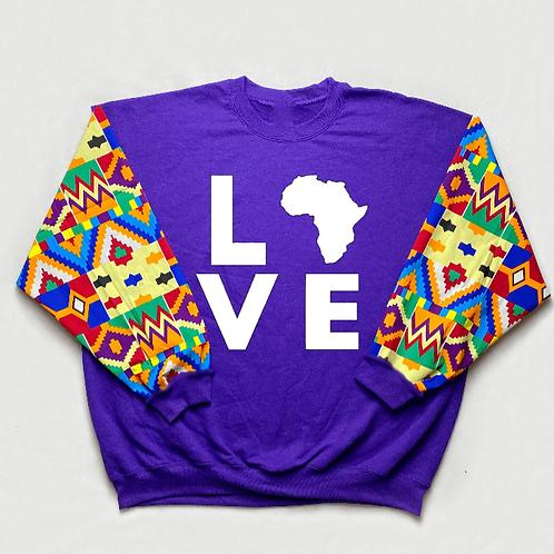 (Purple/White) Love Africa