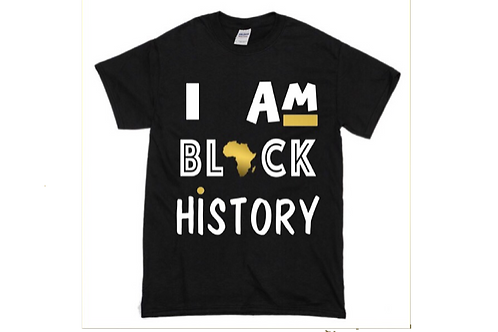 Kids Tee Shirt (I Am Black History)