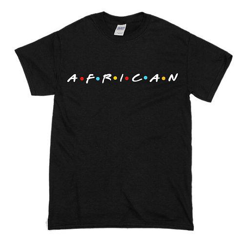 African (Friends) Black Shirt