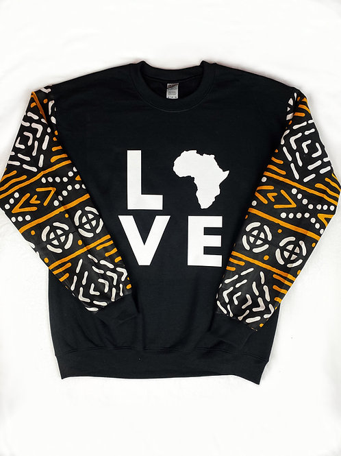 (Black/White/Mustard) Love Africa