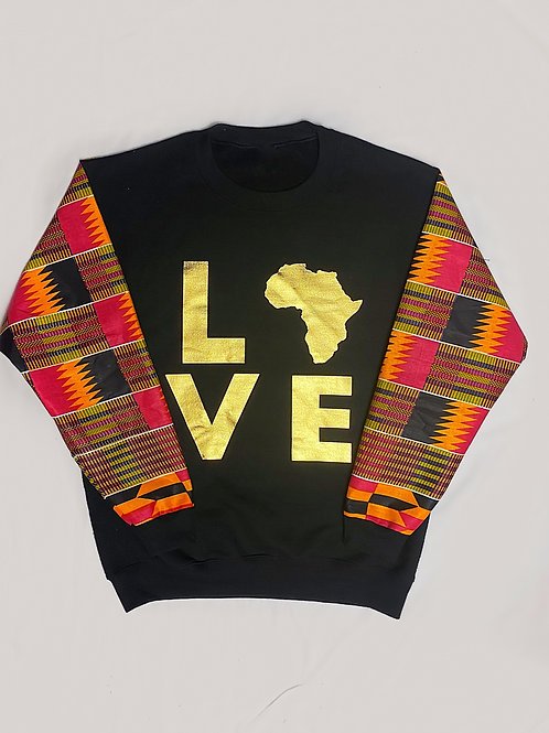 (Fuchsia Pink/Gold) Love Africa