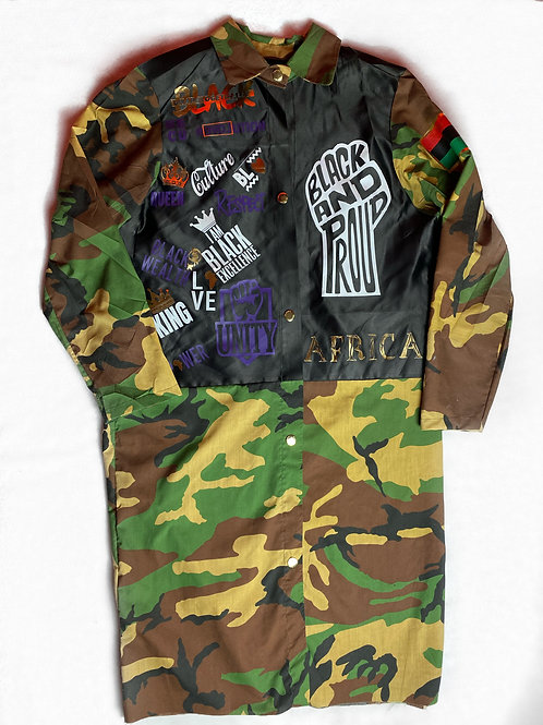 Long Militant Jacket (Love Black)