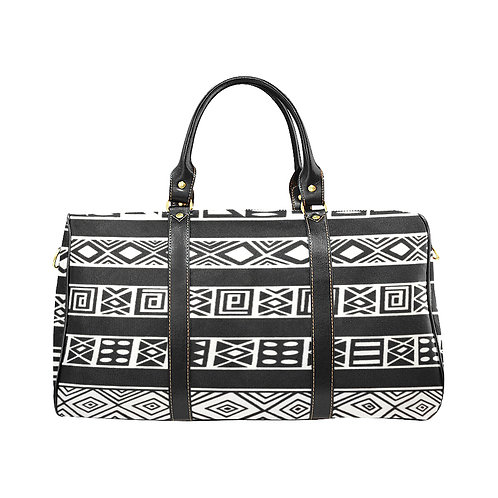 Black/White Kente Large Travel Bag