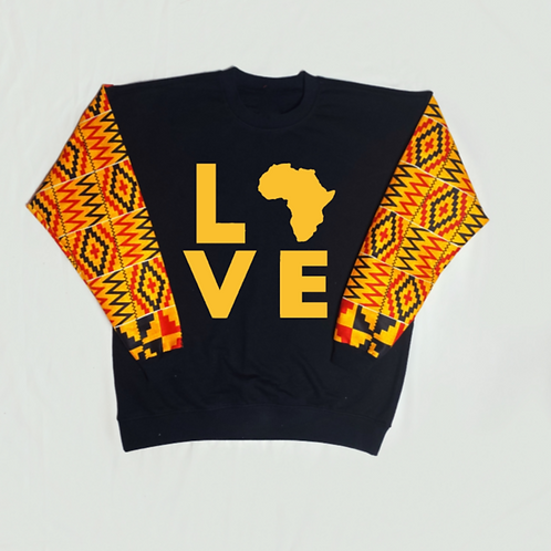 (Mustard Yellow/Black/Red) Love Africa