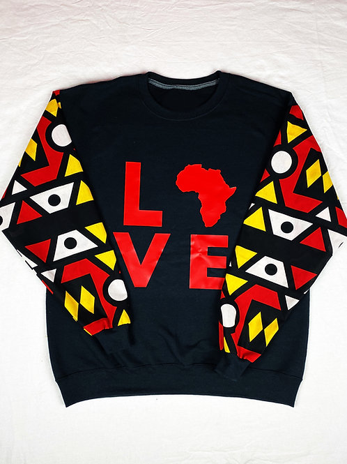 (Red/Black)Love Africa Sweaters