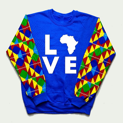 (White/Blue) Love Africa