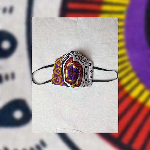 Face Mask (Purple Ankara Fabric)