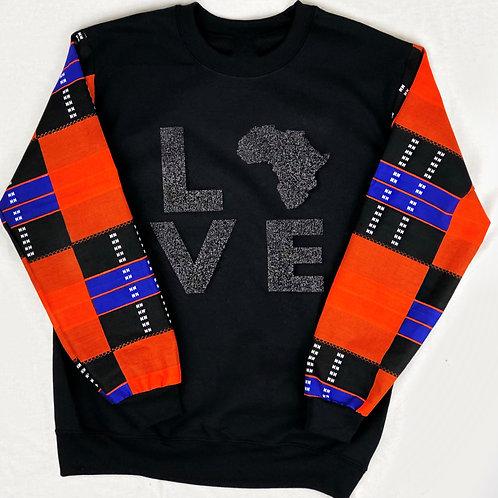 (Orange/Blue) Love Africa Sweater