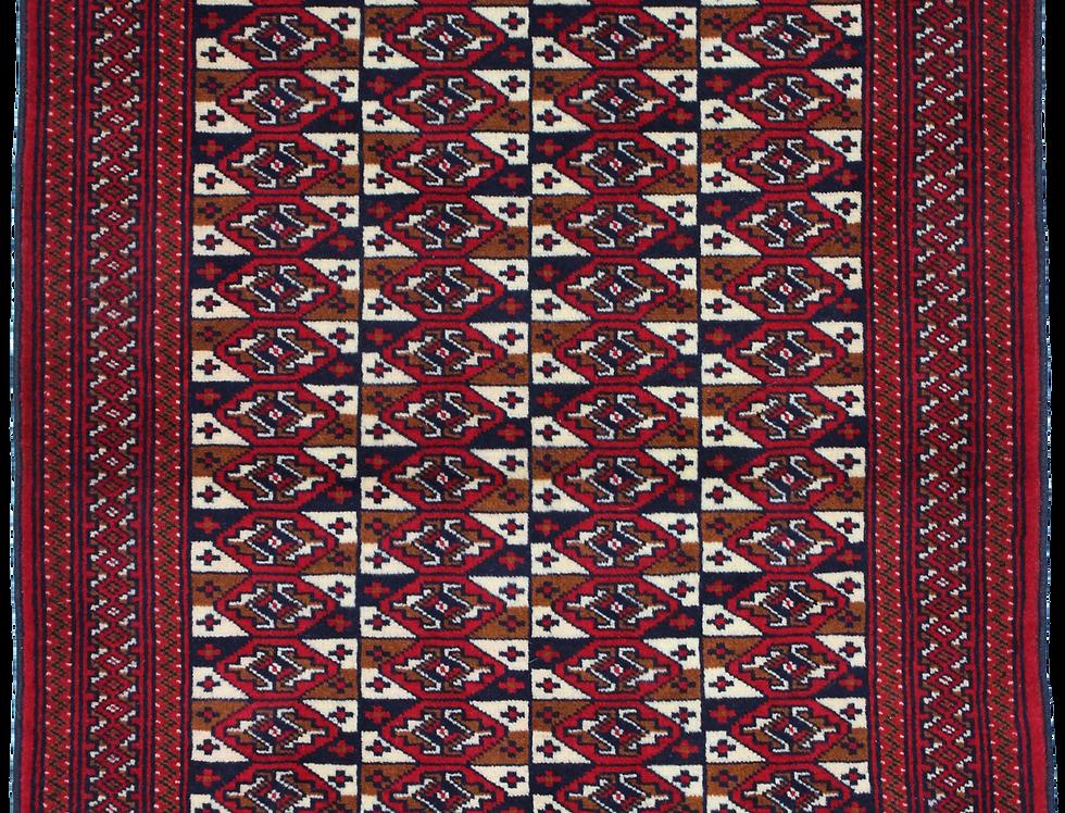 33169トルクメン幾何連続文絨毯絨毯