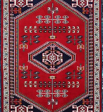 33159トルクメン幾何メダリオン文絨毯