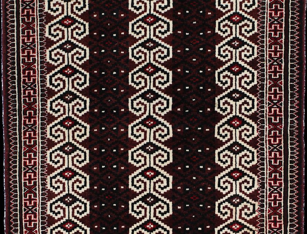 33181トルクメン幾何連続文様絨毯