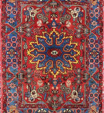 数寄の絨毯33139/ハマダーン(ハマダン)・メダリオン文絨毯