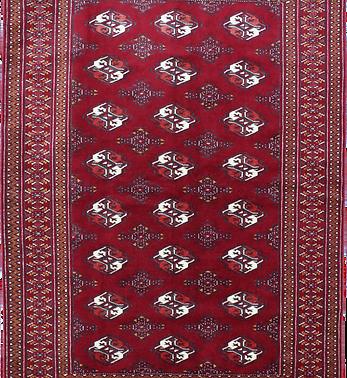 33160トルクメン幾何連続文絨毯