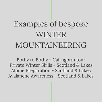 Examples of bespoke Winter Mountaineering in the Lake District with Open Ascents