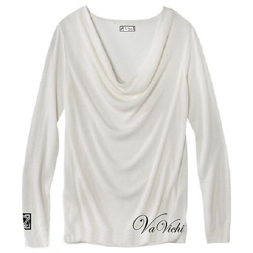 VaVichi Queens Draped In Grace Ls Top