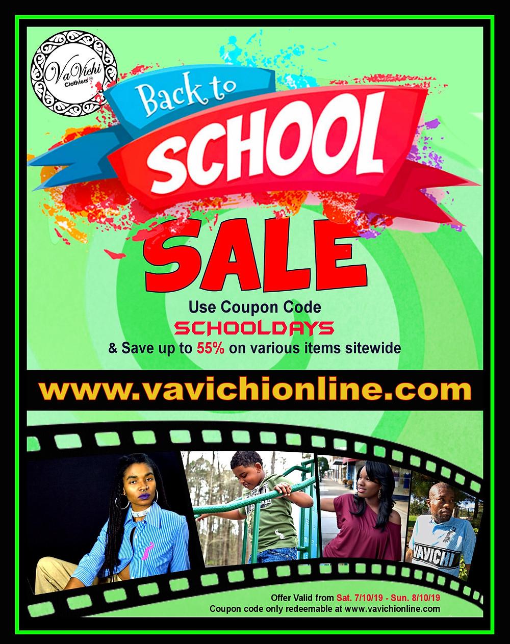 VaVichi Back to School Sale