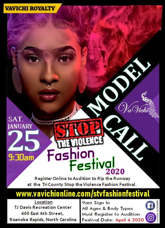 Tri County Stop the Violence Fashion Festival Model Call