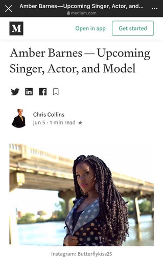 Amber Barnes Featured in The Medium Magazine