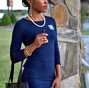 VaVichi Queens Exquisitely Refined 3/4 sleeve Dress