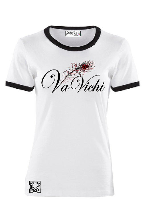 Youth VaVichi Feather Ringer Tee