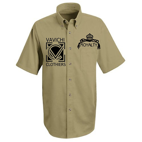 VaVichi Royalty Twill Short Sleeved Sports Shirt