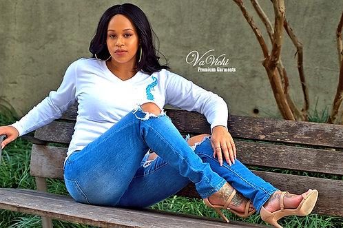 VaVichi Queens V-Neck Sweater