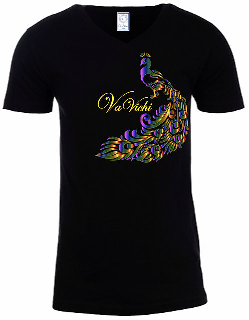 BIG Men's VaVichi Colorful Peacock Tee