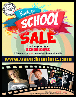 VaVichi Back to School Sale