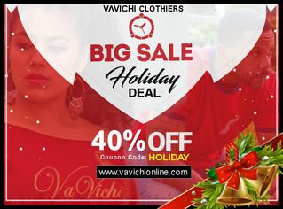 VaVichi Clothiers Holiday Season Sale