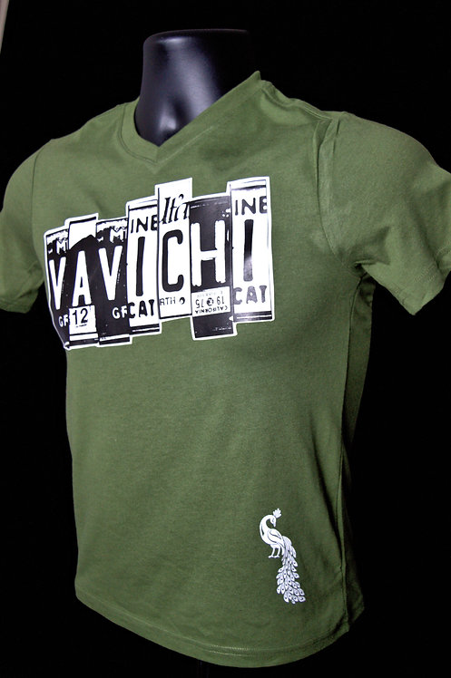 VAVICHI TAGGED V or Crew Neck Tee