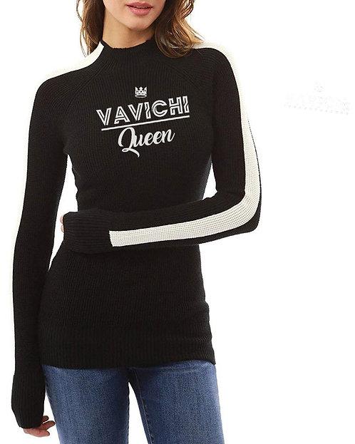 VaVichi Queens Turtleneck Top Black