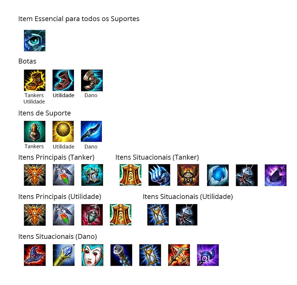Build Suportes - League Of Legends