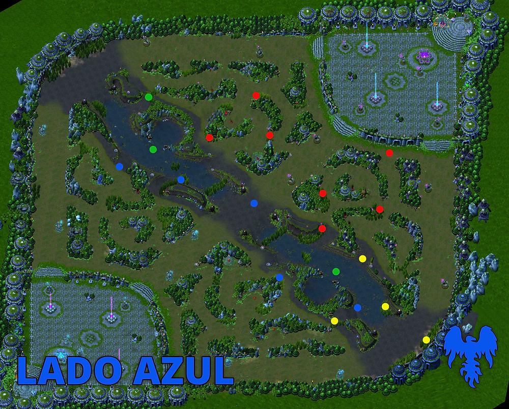 Mapa de Wards Lado Azul League Of Legends