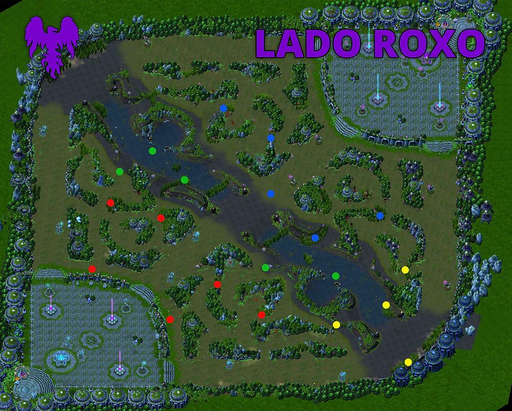 Mapa de Wards Lado Roxo League Of Legends