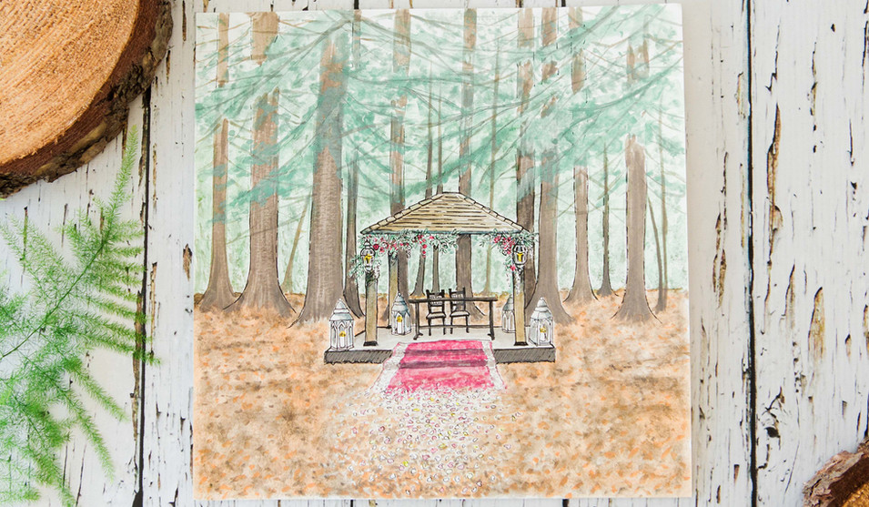 Two Woods Estate Venue Painting