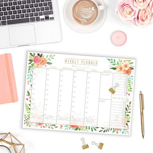Weekly Planner Pad - Floral