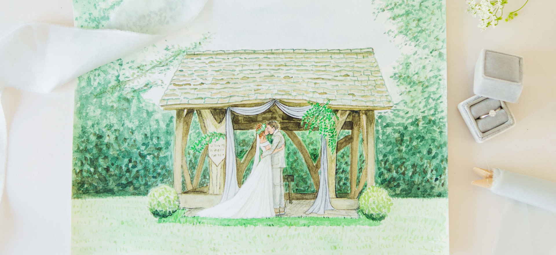 Cripps Barn Venue Painting