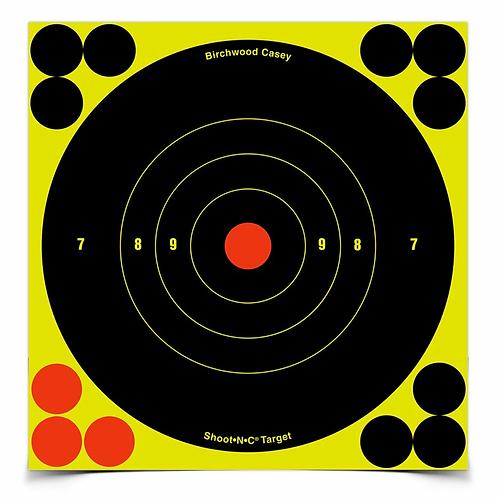 SHOOT•N•C® 6 INCH BULL'S-EYE, 60 TARGETS - 720 PASTERS